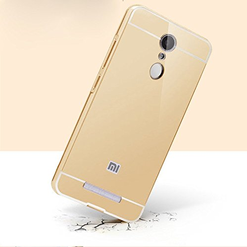 Febelo TM Branded Metal Alloy Bumper Frame Case with Acrylic Back Cover for Xiaomi Redmi Note 3 - Gold Color  available at amazon for Rs.199