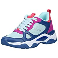 GUESS Flaus2 Women's Athletic & Outdoor Shoes, Blue (Blue/Multicolor Fabric BUMFB), 38 EU