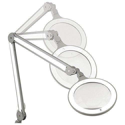Daylight LED-Lupenleuchte iQ Lupenlampe, 4 Stufen Dimmer, 12W, 175% Vergrößerung