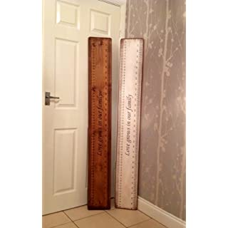 Handmade Shabby Chic Solid Wood Heigh Chart, Family Height Chart Saying