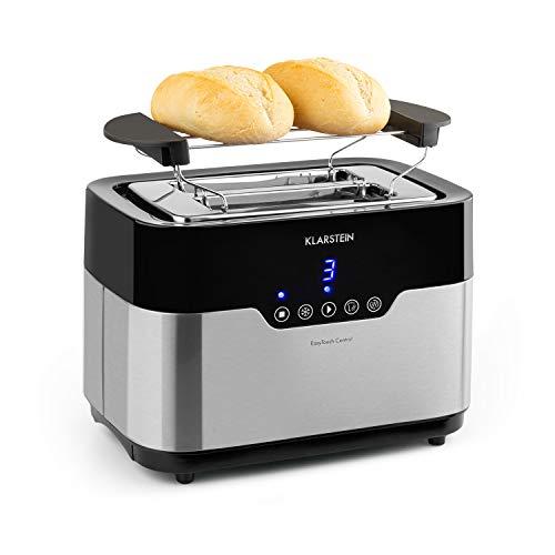 Klarstein Arabica Grille-pain - 920W, Panneau de contrôle tactile, Affichage LED, Fonction dégivrage, préchauffage et arrêt, Grille de cuisson, Tiroir à miettes, acier inoxydable