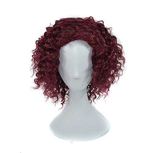 SHIZHESHOP Haarreif, 220 g, 16 Zoll, für Frauen, Rot Red Wine