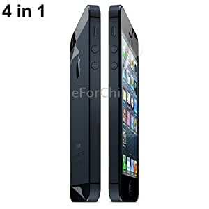 4 in 1 (Front Screen + Back Cover + Upper + Lower Lens) Anti Glare LCD Screen Protector for iPhone 5 (Taiwan Materials)