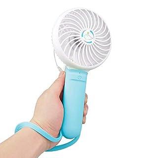 Breeze DMM Mini Ventilateur Homgeek 3 en 1 Mini USB Portable Multifonction Fans avec 3 Niveau Vitesse De Ventilation Réglable Ventilateur De Poche Stick Selfies pour L'Extérieur, Bleu