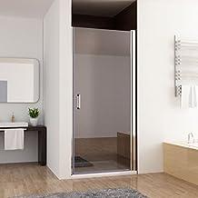 80 100 x 197 cm nischentr duschabtrennung schwingtr duschwand dusche nano glas - Dusche Nischentur 60