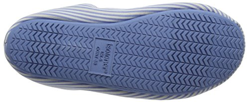 Isotoner Ladies Woven Stripe Mules, Pantofole Donna Blue (Pale Blue)