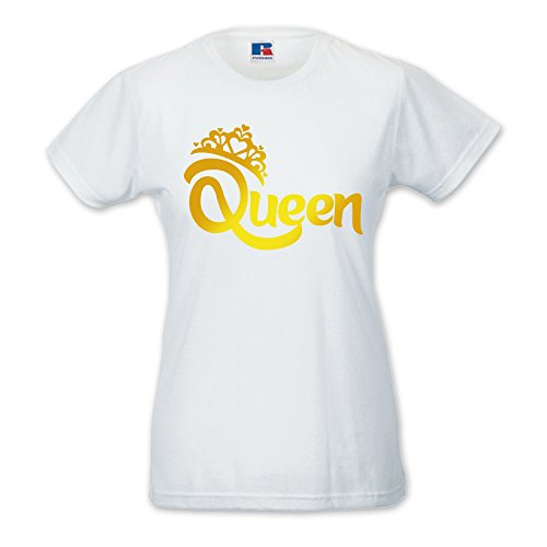 Babloo Damen T-Shirt Weiß