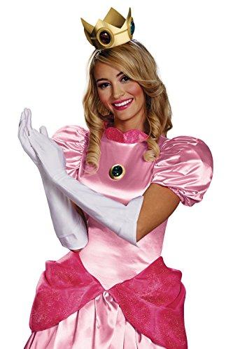 Princess Erwachsene Peach Für Kostüm - Unbekannt Super Mario 13382-Set Kostüm Prinzessin Peach, weiß, Einheitsgröße