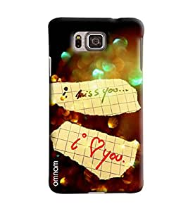 Omnam I Miss You And I Love You Printed Designer Back Cover Case For Samsung Galxy Alpha
