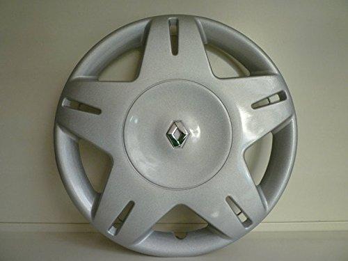 Lot de 4 Enjoliveurs Enjoliveur Boutons Clous de voiture Coupes Rivets Roue Renault Megane r 13 depuis 2001 (Sc 418L) Logo Chromé