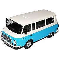 Barkas B1000 Bus Feuerwehr Krankentransport Rot 1961-1990 1//18 Ist Ixo Modell ..