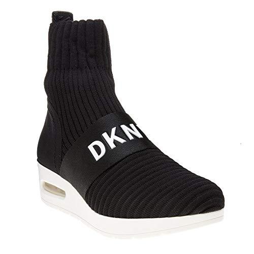 DKNY Anna Slip on Wedge K3873121 Ribber Knit Black BLK