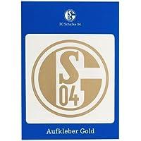 FC Schalke 04 Aufkleber Gold Autoaufkleber