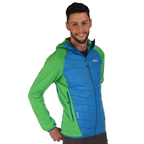 Regatta Great Outdoors Herren Andreson II Hybrid Steppjacke (XL) (Apfelgrün/Blau) (Herren Jacke Hybrid)