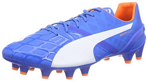 Puma evoSPEED 1.4 FG, Herren Fußballschuhe, Blau (electric blue lemonade-white-orange clown fish 03), 42.5 EU (8.5 Herren (Schuhe Blau Clown Erwachsene)
