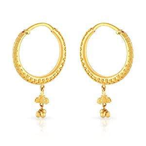 Malabar Gold and Diamonds Collection 22k Yellow Gold Hoop Earrings