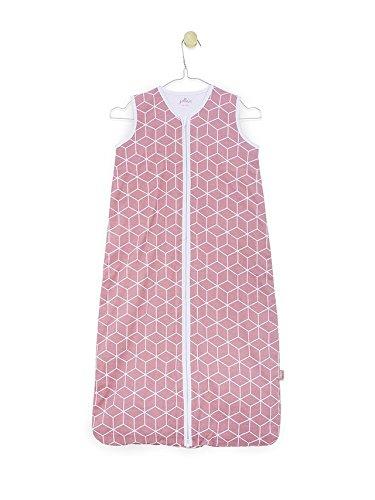 Jollein 048–529–65119Saco de dormir Verano Jersey Graphic Mauve, 110cm, color rosa