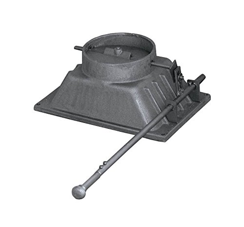 Rauchabzugshaube Rauchabzug Luftregulierung aus Gusseisen für Backofen Ofen Pizzaofen Holzofen Steinofen Grill mit Griff | Durchmesser: ø180 mm