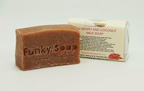 1 piece Goji Berry & Coconut Milk Soap 100% Natural Handmade approx.120g