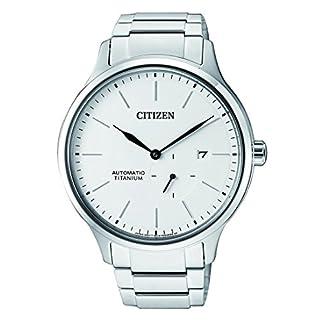 Citizen Reloj Analogico para Hombre de Mecánico con Correa en Titanio NJ0090-81A