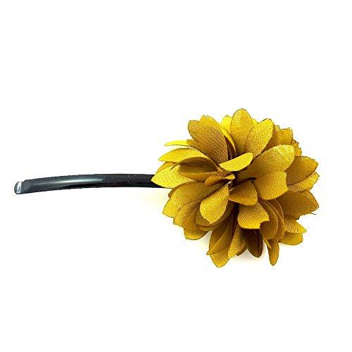 rougecaramel - Accessoires cheveux - Mini pince fleur - jaune moutard