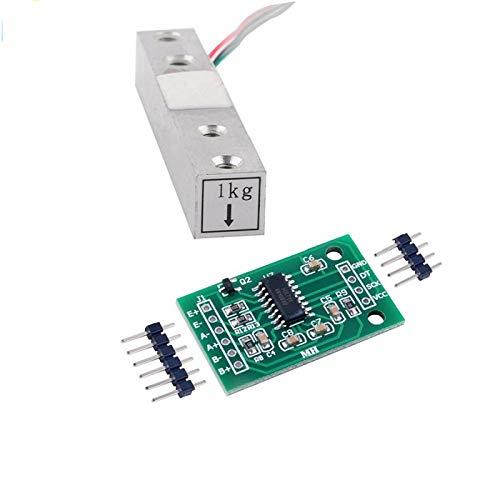 Módulo de peso AD HX711   PGA de bajo ruido activo en el chip con ganancia seleccionable de 32, 64 y 128  Regulador de alimentación en chip para celdas de carga y fuente de alimentación analógica ADC  Oscilador en chip que no requiere componentes ex...