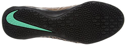 Nike Hypervenomx Proximo Ic, Scarpe da Calcio Uomo Multicolore (Dorado / Negro / Verde (Mtlc Rd Brnz/Blk-White-Grn Glw))