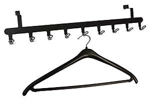 t rgarderobe f r die r ckseite garderobe t r garderobenleiste stahl schwarz. Black Bedroom Furniture Sets. Home Design Ideas