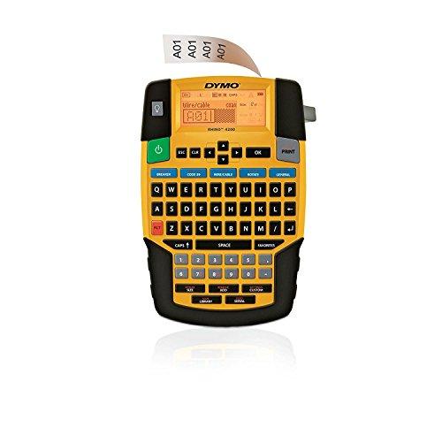 Dymo Rhino 4200-Label Drucker (schwarz, gelb, 6-19mm, QWERTY, Lithium-Ionen (Li-Ion), Geschenkbox, China)