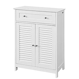 411xnxmzkxL. SS324  - SoBuy Armario de almacenaje Mueble Auxiliar para baño- 1 cajones y 2 Puertas FRG238-W,ES
