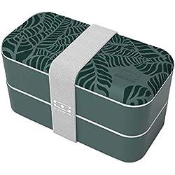 monbento Original Bento Box in plastica, Jungle, 18,5 x 9,4 x 10 cm