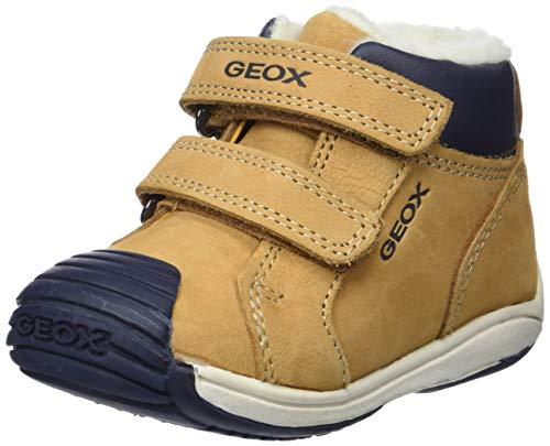 Geox Baby Jungen B Toledo Boy D Sneaker, Beige (Biscuit/Navy C5bf4), 21 EU
