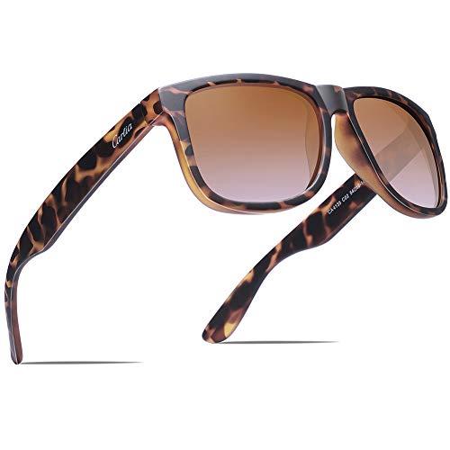 Carfia Outdoor Sonnenbrille UV400 Polarisierte Sonnenbrille für Herren Fahren Golf Wandern Reise Party