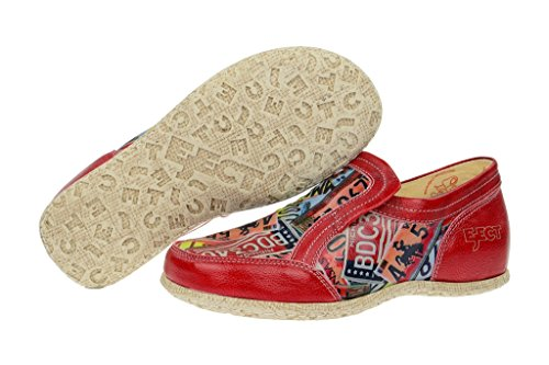 EjectEject Road Slipper in rot - print Lackleder - Scarpe chiuse Donna Rosso (rosso)