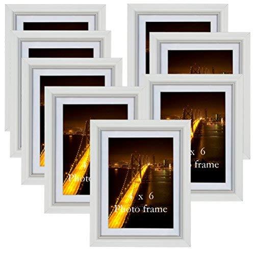 n 13x18 ohne Passepartout Bilderrahmen 10 x 15 cm weiß mit Passepartout, 8er Set ()