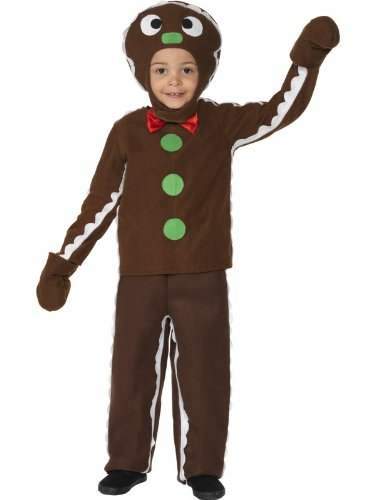 Pfefferkuchenmann Kostüm Shrek Ginger Kinder 3-4J GrT2 (Shrek Kostüm Kinder)
