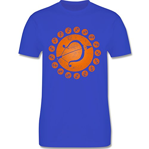 Shirtracer Symbole - Tierkreiszeichen Schütze - Herren T-Shirt Rundhals Royalblau