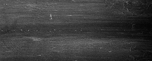 Wallario Glasbild Dunkler schwarzer Stein - Muster - Steinoptik - 50 x 125 cm in Premium-Qualität: Brillante Farben, freischwebende Optik