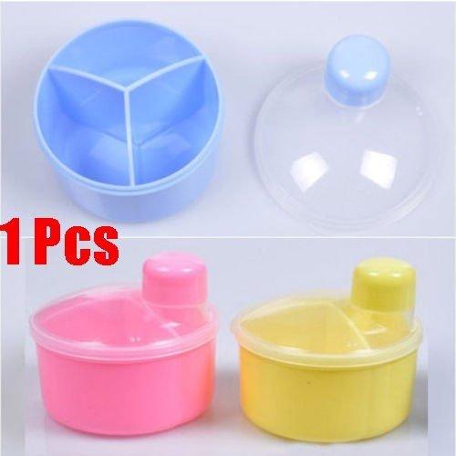 Baby Kids Milk Powder Formula Dispenser tragbare Container Pot 3 Compartment - Powder Formula Dispenser