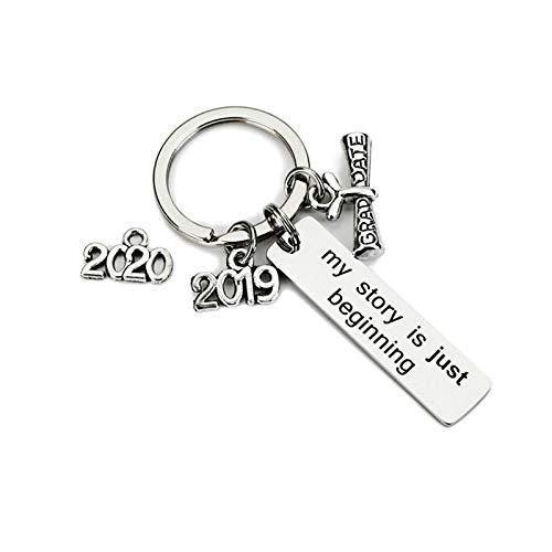 rren Schlüsselanhänger mit Gravur My Story is just Beginning 2019 Graduate Schlüsselanhänger Beste Freundin für 1 ()