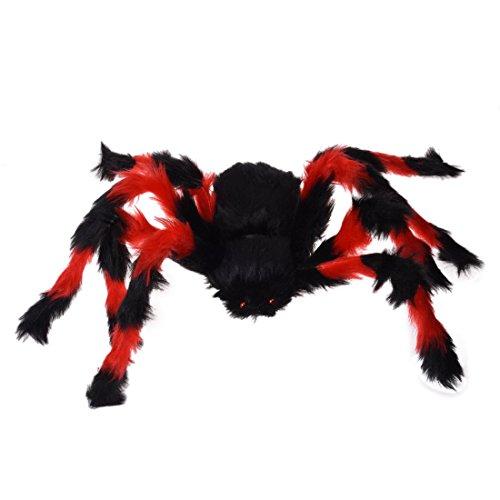 SODIAL(R) 75cm grosse Spinne Plueschtier / Halloween Dekoration -