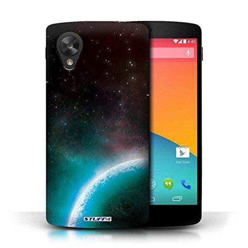 Kobalt® Imprimé Etui / Coque pour LG Google Nexus 5/D821 / Éclipse Vert conception / Série Cosmos Planète Bleue