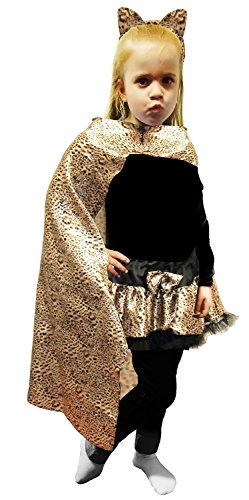Leopard Kostüm Girl - Wicked Fun Girls Boys Children Leopard Printed Cape 22 & 32 Inches (32 Inches)