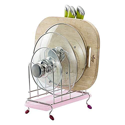 SONGDP Edelstahl Topf Rack mit Wasser Tray Messerhalter Küche Put Tool Rack Schneidebrett Rack -