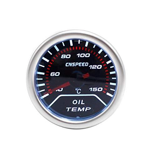 sourcingmap Voiture universel 52mm Diam/ètre 40-120C Coque Noir Temp/érature eau compteur pointeur LED
