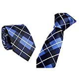 Xmiral Trendy Business Krawatte Beiläufiger dünner Plain Herren Striped dünner Hals(G)