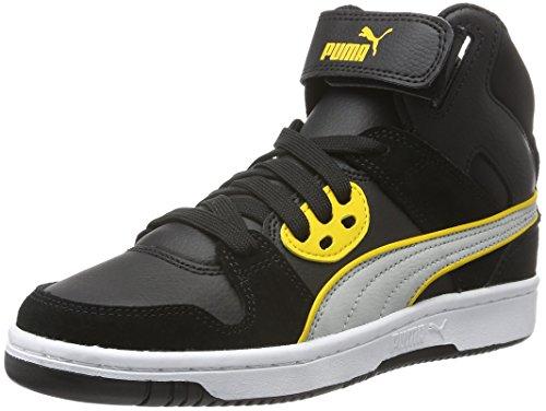 Puma Rebound Street Sd, Baskets Basses Mixte Enfant Noir - Schwarz (puma Black-Gray Violet 10)