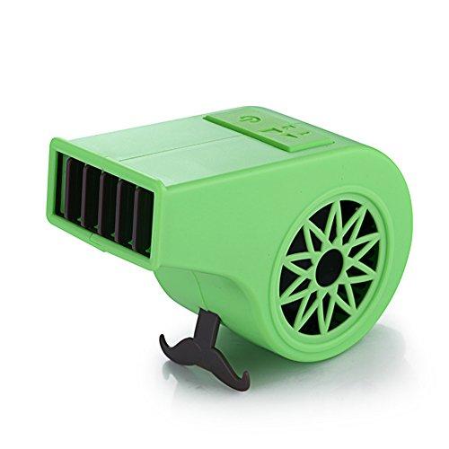 Unbekannt Tragbare Hand No Leaf USB Wiederaufladbare Mini Whistle Form Fan Blattlosen Fan Luftkühler Outdoor Fans,Green