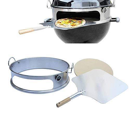 Onlyfire BRK-6023 inox pizza horno paquete completo PizzaRing para Weber 57 cm...