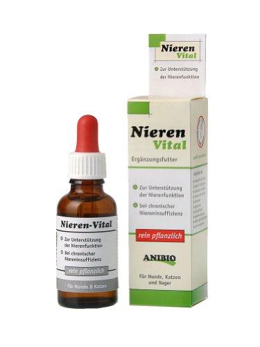 Anibio Nieren-Vital 30 ml (Tropfen) Ergänzungsfutter für Hunde und Katzen, 1er Pack (1 x 0.03 l)